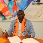 The ex-Ghana skipperputs pen to paper for Swedish 2nd tier side Athletic FC United