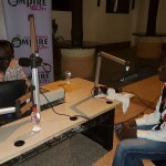 Lord Kenya being interviewed by Bola Ray