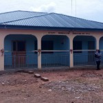 The front viw of the new Adasco staff bungalow