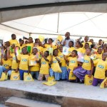 A group picture of the children at this year's World Literacy Day celebration at the Adabraka Community Library