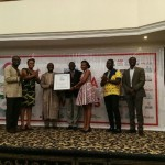 MTN Team receiving the citation for CSR company of the year