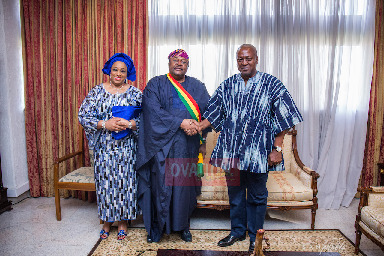 President Mahama honoured Adenuga at a ceremony in Accra on Saturday