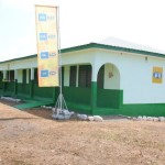 Outside view of the new classroom block of Akim Asafo SHS