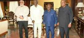 President Akufo-Addo meets former presidents Rawlings, Kufuor and Mahama