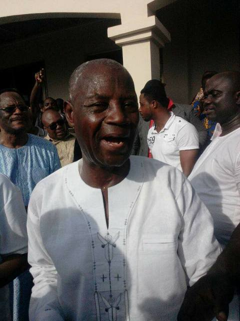 Hon. A L Akrofi in celebratory mood following his overwhelming endorsement