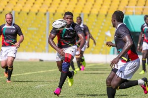 Ghana rugby team action