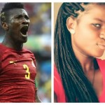 Asamoah Gyan and Sarah Kwabla