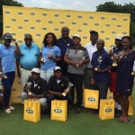 One for the album: Al winners at the 2017 MTN Classic Golf on Saturday pose with officials of MTN sponsors and Tema Country Golf Club hosts