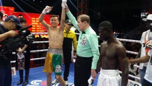 Tackie Annan lost in round one after suffering injury