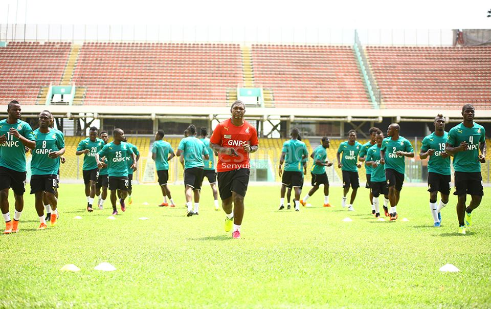 Assistant coach, Maxwell Konadu leads Black Stars training